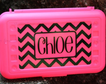 CHEVRON Personalized Pencil Box - School Supplies - Back to School - Most Popular Back to School Gift - Assorted Colors/Designs