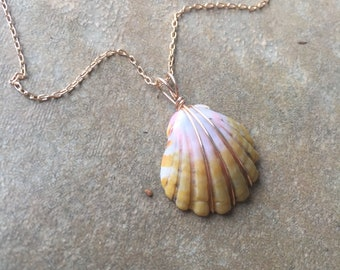 Soft and Sweet Sunrise Shell Pendant