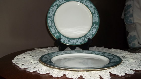 Homer Laughlin Century Service Corporation Semi Vitreous Dinnerware Alliance Ohio Teal Green D54N8 Church box 8 & Homer Laughlin Century Service Corporation Semi Vitreous