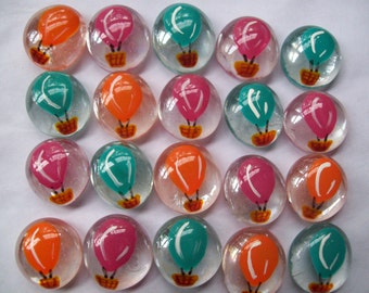Balloons Hand painted glass gems party favors  HOTAIR BALLOONS Hot air balloons