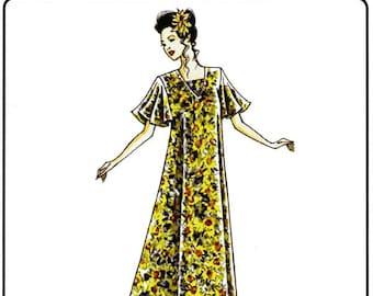 Very Loose-Fitting Pullover Muumuu Dress size S-2X Victoria Jones Sewing Pattern #102