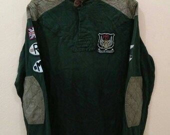 POLO RALPH LAUREN long sleeve with patc Rmcl Riders Assco green army medium size