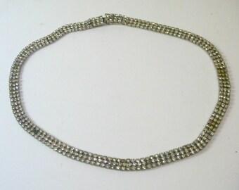 Vintage Narrow Rhinestone Choker Necklace