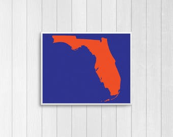 Orange and Blue Florida Gators 8x10 Prints - Florida, Chomp Chomp, In All Kinds of Weather -  Florida Gators Gift, Florida Gators Print
