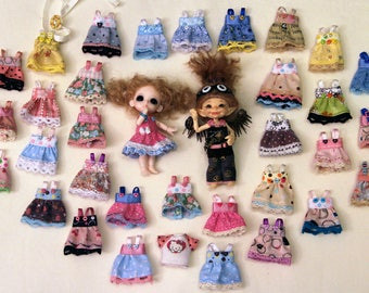 31 Different dresses for Realpuki, Lati white tiny bjd doll dress outfit sundress