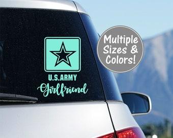 Army Girlfriend Car Decal, Army Girlfriend Decal for Yeti Tumbler, US Army Girlfriend Laptop Decal, U.S. Army Girlfriend Yeti Decal Military