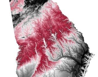 University of Georgia Topographic Map