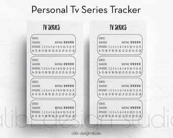 Tv Shows, Tv Show Tracker, Personal Planner Inserts, Tv Tracker, Tv Shows Organizer, Personal Printable, Planner Printable, Personal Filofax
