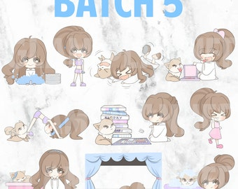 Batch 5 - Bippity and Boo 01 (Kawaii Planner Stickers)