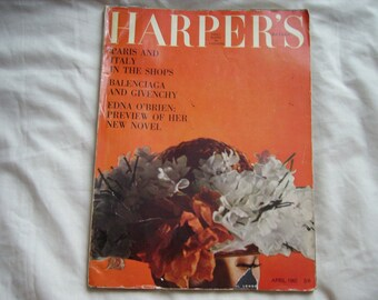 Vintage Harper's Bazzaar Fashion magazine April 1962
