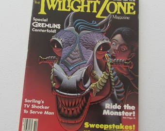 Rod Serling's The Twilight Zone Magazine, October 1984 Gremlins Centerfold Issue, 80s Sci-Fi