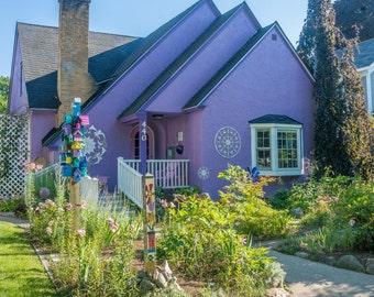Purple House in Traverse City, MIchigan Photo 12x18