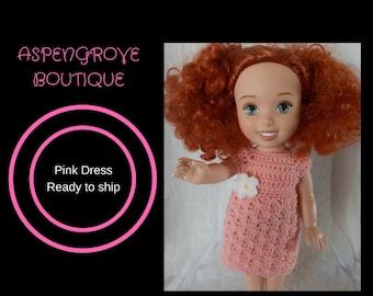 14 inch doll handmade play crocheted sundress