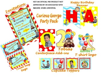 Curious George Personalized Party Pack