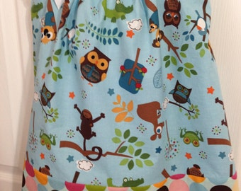 Pillowcase Dress with Owls size 2T/3T