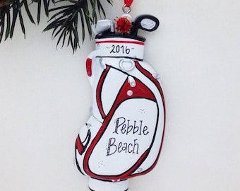 Golf Bag Personalized Christmas Ornament / Dad Christmas Ornament / Gift for Golfer / Golf Ornament / Golf Team