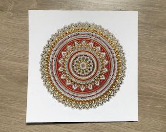 Red and gold mandala