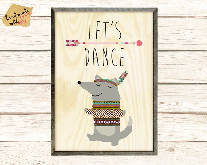 Let's dance cute wolf Collage