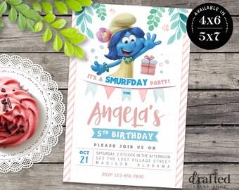 Smurfs Invitation, Smurfs Birthday, Smurfs Party, Smurfs Invites, Printable invite, Movie Printables, Smurf Village Invite