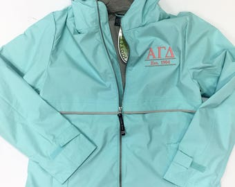 Sorority Charles River Full Zip Rain Jacket