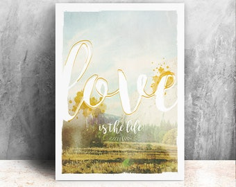 Love illustration / print 21 X 29, 7 / Emilie Raguin