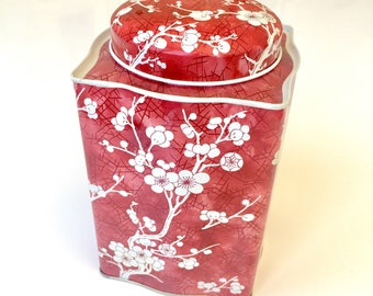 Vintage English Flower Cherry Blossom Tin