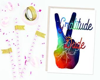 Gratitude Dude - Thank you Card