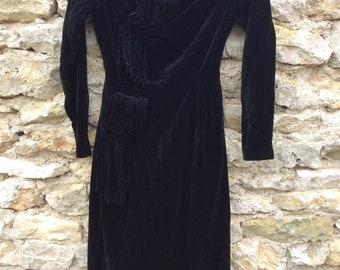 Dress authentic 1940 velvet WW2 pinup