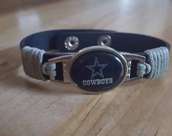Dallas Cowboy Bracelet leather cuff cowboys football
