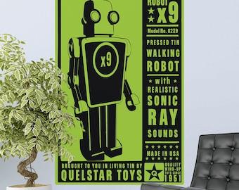 Robot X9 Toy Lunastrella Wall Decal - #64320