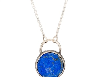 Lapis Sterling Silver Alvina Necklace
