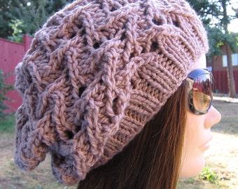 PDF Knitting Pattern - Knit Slouchy Hat / Ziggy