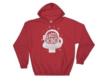 Choose Kind Hooded Sweatshirt // Promote Kindness Sweatshirt //  Inspirational Trendy Sweater // Be Kind Always Hooded Sweatshirt
