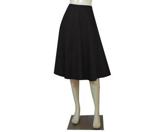 Taffeta Skirt Black Skirt Bridesmaids Skirt Prom Skirt Formal Skirt in Tea Length XS S M L XL