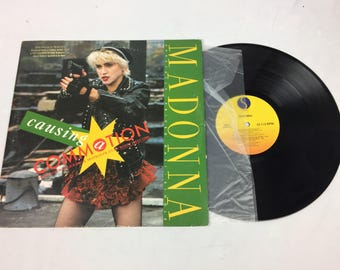 """Madonna """"Causing Commotion"""" vinyl lp record with sleeve"""