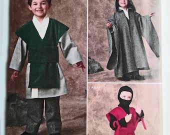 Star Wars, Kids Super Hero, Ninja Warrior, Villain Costume, Toddler Robe, Kids Cape, Boys Hood, Belt, Costume Sewing Pattern, Simplicity