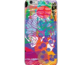 Boho Chic Roses 03B Digital Painting Bold Acrylic Paints iPhone Case