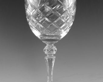 GALWAY Crystal - CLARE Cut - Goblet Wine Glass / Glasses - 7 3/4""