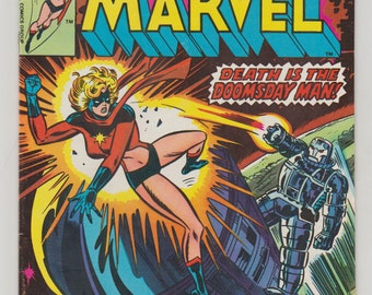 Ms. Marvel; Vol 1, 3 Bronze Age Comic Book.  VF- (7.5). March 1977.  Marvel Comics