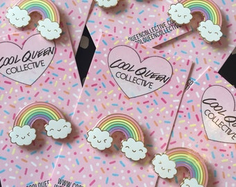 Happy Rainbow Kawaii Enamel Pin
