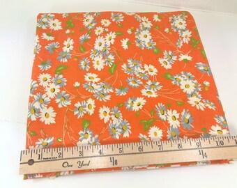 Orange Daisy Fabric, Peas & Carrots, Peas and Carrots, American Jane, Moda, Sandy Klop, **PRE-WASHED**,1 Yard
