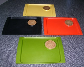 David Douglas, Snack Trays, Sandwich Trays, Acca ware 70s Set of 4 Vintage