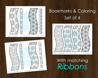 Bookmark Coloring Bookmark Color Custom bookmark Personalized bookmark Floral patterns  Bookmark Template Bookmark Set  Bookmarks for books
