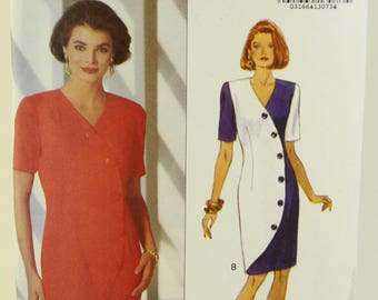 Butterick 6033, Kathryn Conover NY dress, size 18-20-22, uncut, marked Yes!  It's Easy!  copyright 1992, stylish and sophisticated