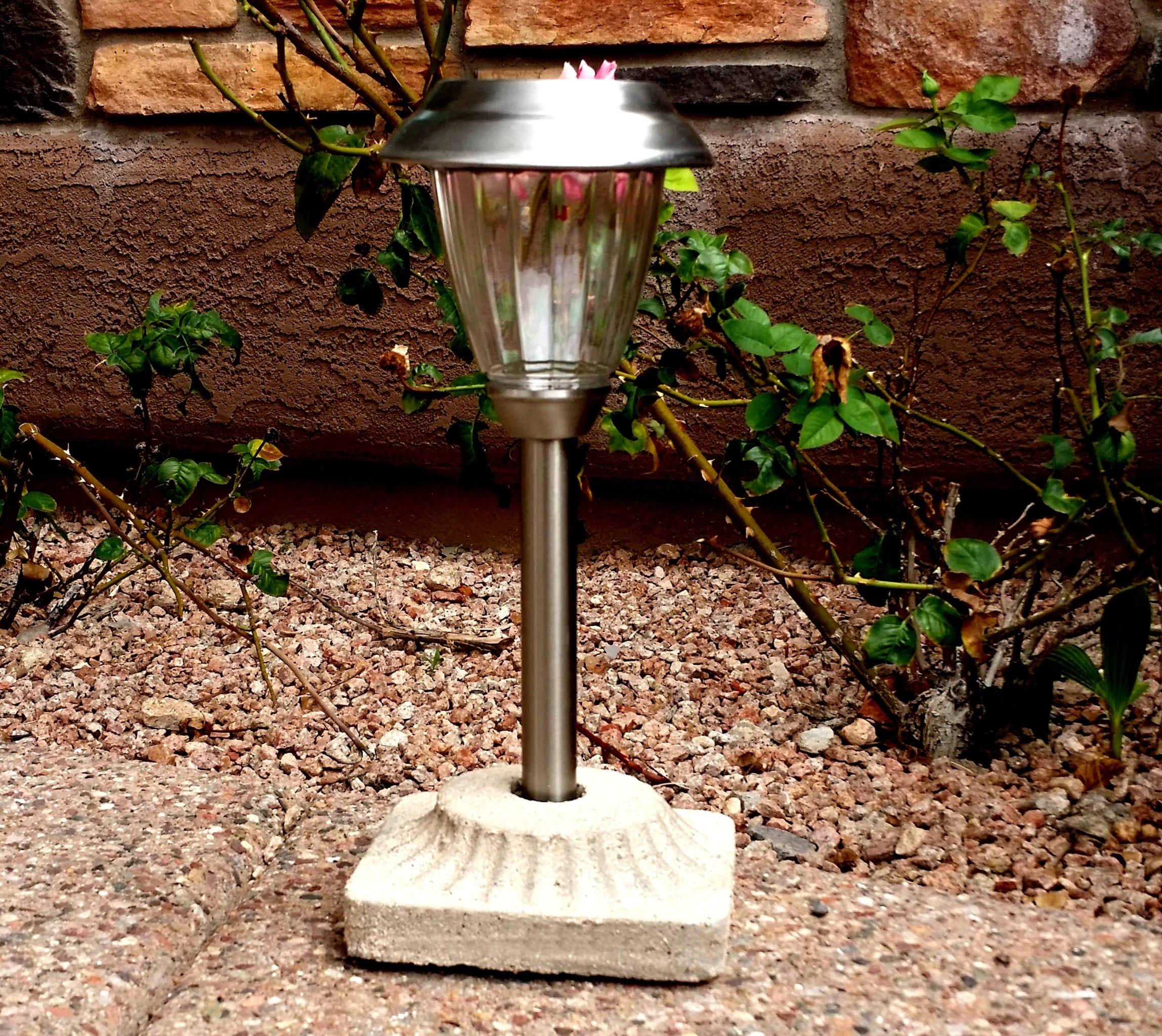 Solar Light Concrete Base Light Stand For Solar Path Lights