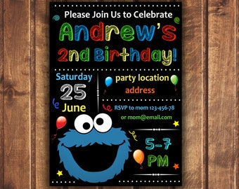 Cookie monster birthday invitation sesame street printable cookie monster birthday invitation cookie monster invitation sesame street invitation sesame street birthday filmwisefo Gallery