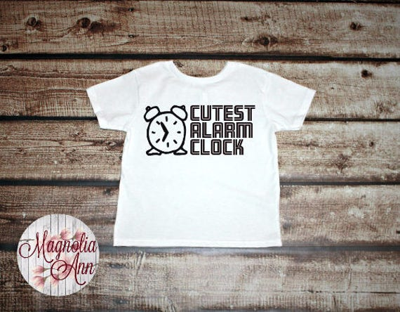 Cutest Alarm Clock, Graphic Toddler T-Shirt in 11 Different Colors in Sizes 2T-5/6