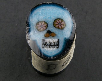Bleu Skull par Greg Chase Murrine Boro canne 6 grammes - 144 D