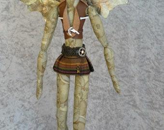 """Steph Fairy -  18"""" Art Doll"""