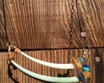 Shell & Brass Necklace
